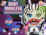 мультик cartoons игра обзор Baby Monster Tooth Problems Monster Baby Games Monster High Games