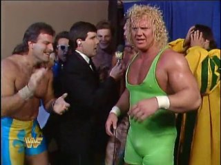 WWF Survivor Series 1989 - Team Rude Post-Match Interview