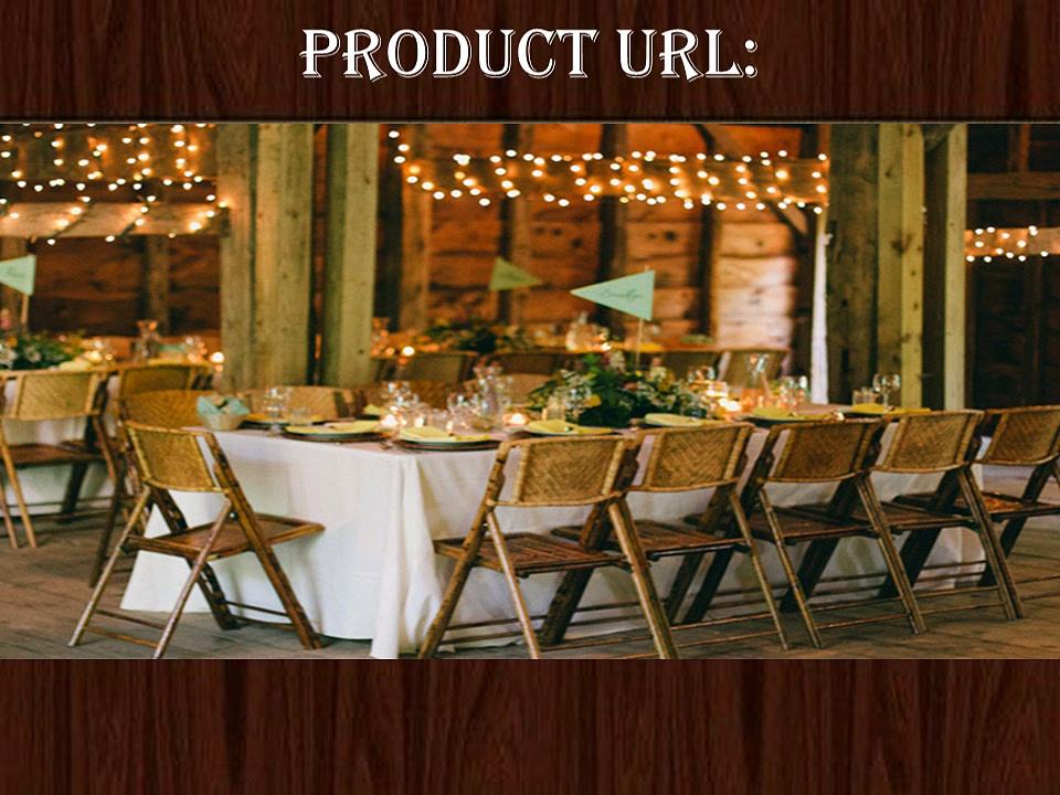 Bamboo Wood Folding Chair  – Larry Hoffman Chair