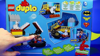 Duplo Lego Batman Adventure Toy Review with Superman and Wonder Woman Saving a Kitten