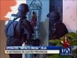 """Operativo """"impacto inicial"""" deja 10 detenidos en cuatro provincias"""