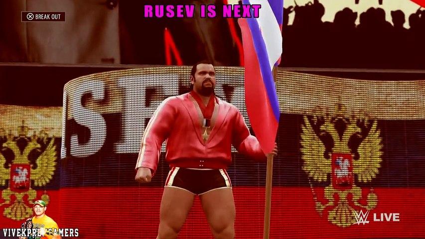WWE RAW 1_11_16 - Brock Lesnar vs Sheamus, Rusev, Alberto Del Rio & Barrett Match - sportslites.com