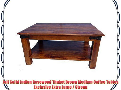 Jali Solid Indian Rosewood Thaket Brown Medium Coffee Table Exclusive Extra Large / Strong