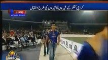 Muhammad Aamir Welcomed by People in Karachi Kings PSL