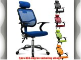 Outdoortips Adjustable Fabric Mesh Seat Backrest Executive Office Computer Desk Chair -3 Colors