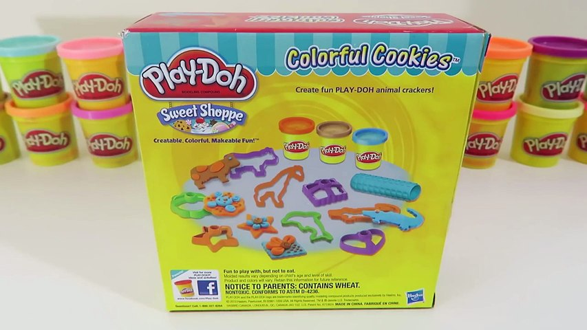 Play Doh Colorful Cookies Dessert Playset | Hearts, Stars, & Animal  Play-Dohh Cookie Shapes!