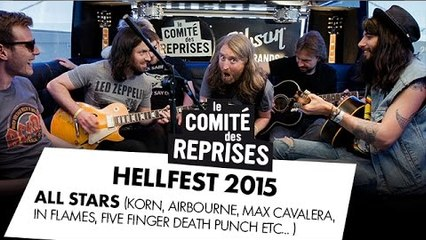"AC/DC ""Highway To Hell"" All Stars cover (Korn ""Head"", Max Cavalera, Airbourne...) @ Hellfest 2015"