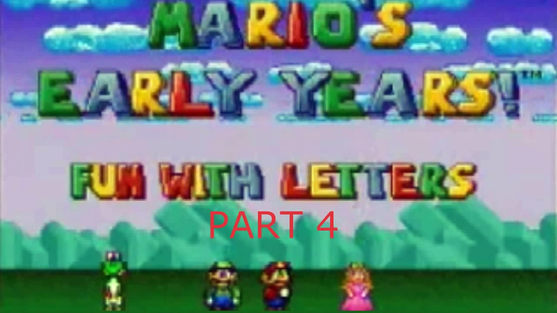 Lets Play - Marios Early Years Fun With Letters (SNES) part 4