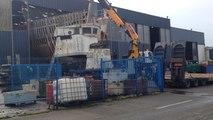 La Calypso se prépare à quitter les chantiers Piriou