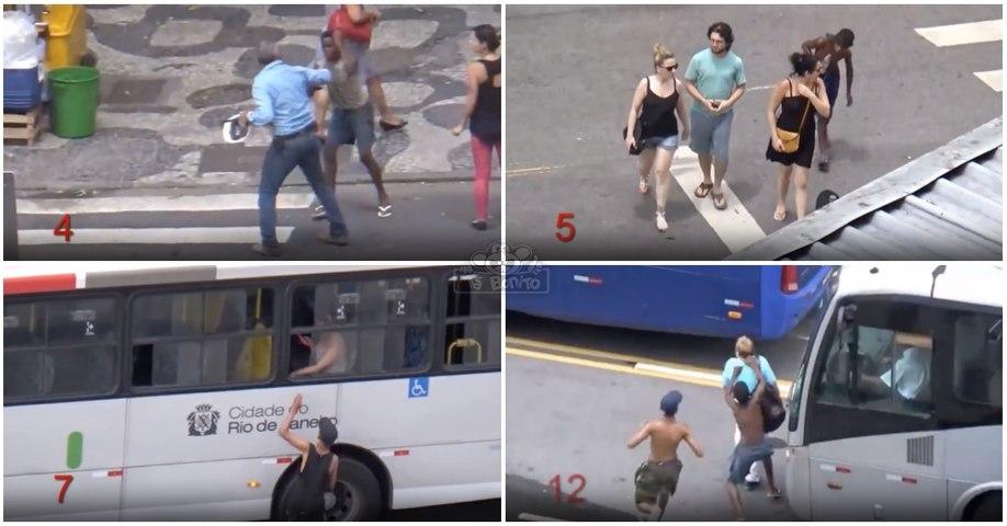 Imagens impressionantes da forma como se rouba nas ruas do Rio de Janeiro... a Cidade Olímpica!