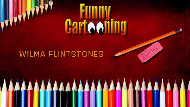 HOW TO DRAW WILMA FLINTSTONE - THE FLINTSTONES - HD