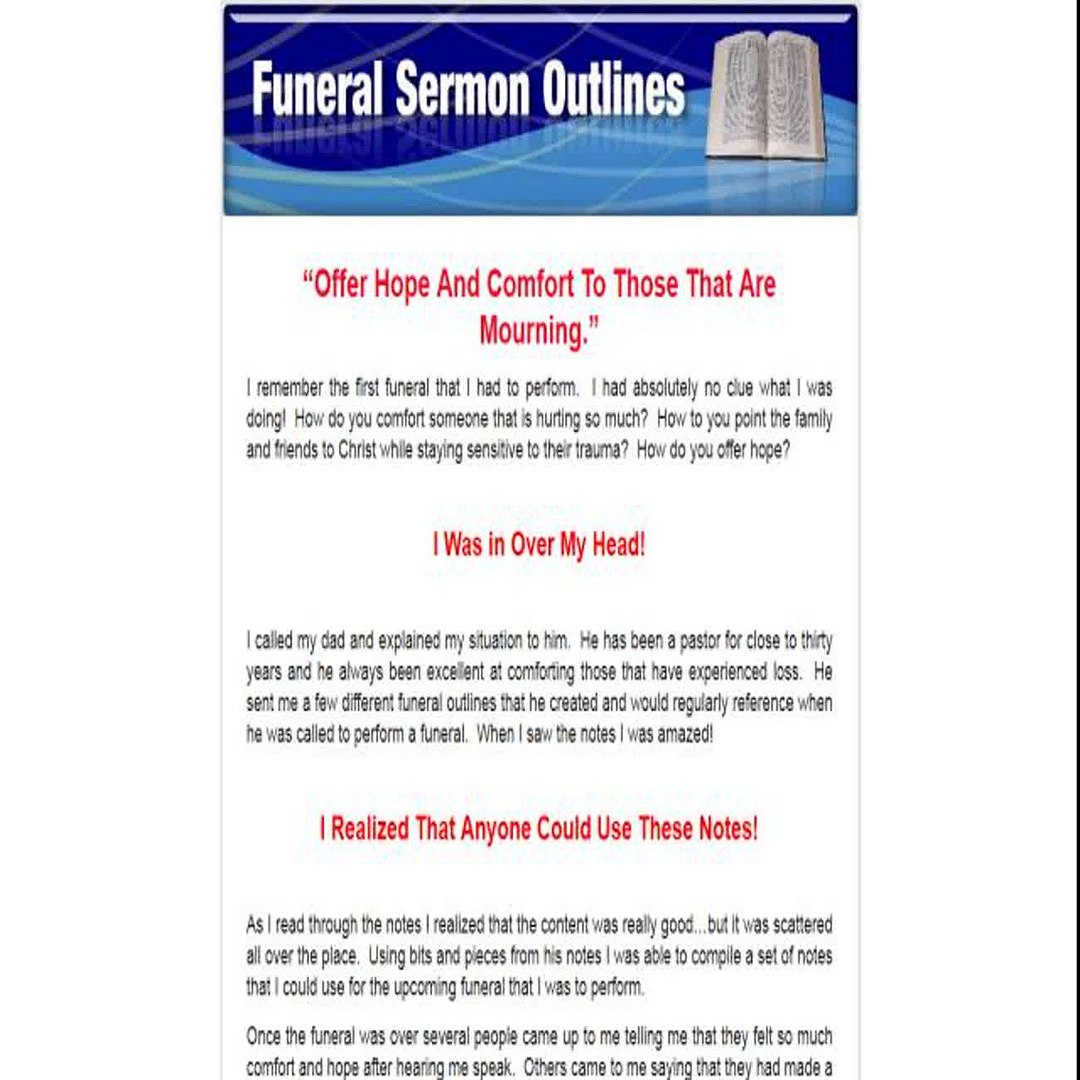 funeral sermon outlines - free eBooks download