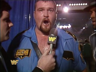 WWF Survivor Series 1989 - The Big Boss Man Post-Match Interview