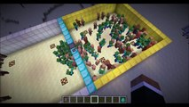 Minecraft Mob Battle - Zombie vs NPC Villagers - Mob vs Mob