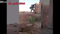 Iraqi Soldier behind a Stone Wall vs. ISIS Sniper