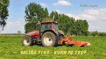Valtra T140 & Kuhn FC 280P gras maaien