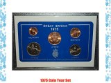 1975 GB Great Britain British Coin Birth Year Gift Set (41st Birthday Present or Wedding Anniversary)