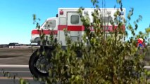 Ambulance Monster Trucks Train Hitting Ambulance Monster Truck Compilation Video For Child