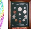 Framed 1943 GB Great Britain British Coin Birth Year Vintage Retro Gift Set (73rd Birthday