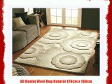 3D Realm Wool Rug Natural 120cm x 180cm