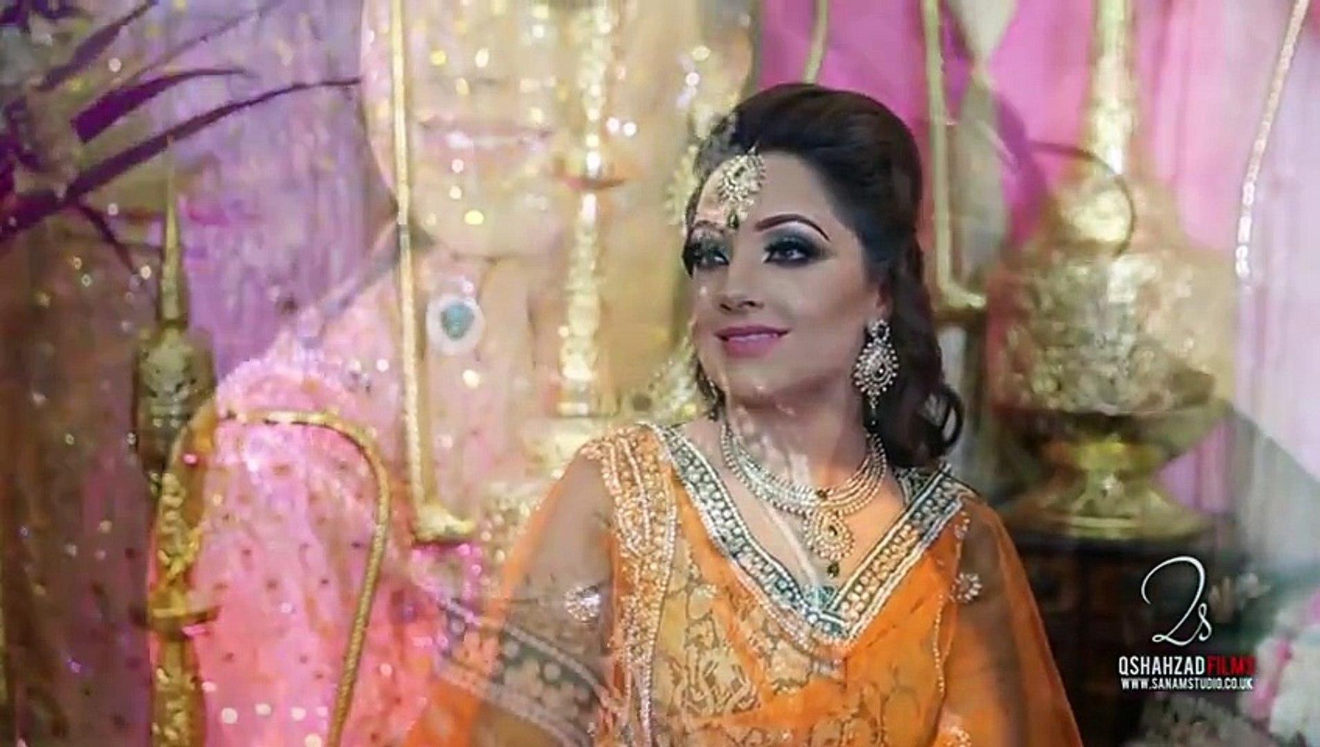 Asian Bridal Makeup - Mehndi Makeup And Hairstyling - Traditional Pakistani Indian Look