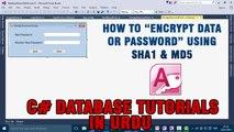 P(9) C# Access Database Tutorials In Urdu - Encrypt Data/Password using SHA1 & MD5