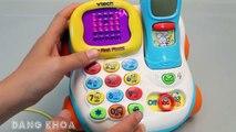 Mở hộp bộ đồ chơi điện thoại bàn có nhiều tính năng rất hay cho bé chơi