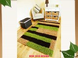NEW SMALL LARGE BROWN GREEN BEIGE SHAGGY RUGS THICK 5CM SHAG PILE RUNNERS RUG MATS (120 X 170