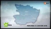 METEO JANVIER 2016 [S.2016] [E.13] - Météo locale - Prévisions du mercredi 13 janvier 2016