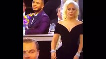 Leonardo DiCaprio laught at Lady Gaga Golden Globes 2016 Golden globes 2016