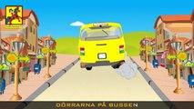 Hjulen på bussen | Wheels on the bus in Swedish | Barnsånger på svenska