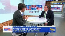 Chris Christie Sounds Off on Presidential Race