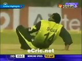 Virender Sehwag helping Shoaib Akhtar. Sehwag showing rare sportsmanship to Shoaib Akhtar on ground. Rare cricket video