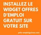Pôle emploi Guinée installez le Widget Offres d'emploi gratuit sur votre site
