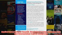 Applied International Finance Managing Foreign Exchange Risk and International Capital