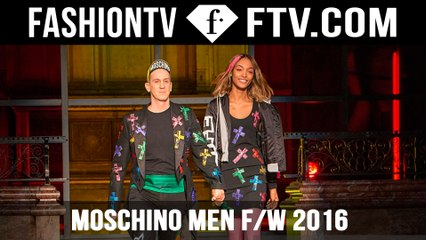 Moschino Men FallWinter 2016 2017 Fashion Show / London | FTV.com