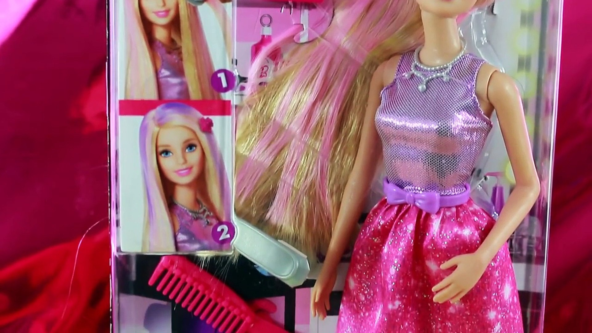 Barbie Color Change Makeup Color Me Glam Hair Frozen Ice Water Changer Fashion Style Doll Dailymotion Video