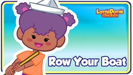 ROW ROW ROW YOUR BOAT with lyrics - Lottie Dottie Chicken