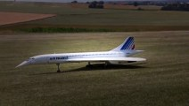 CONCORDE AIR FRANCE HUGE RC SCALE TURBINE MODEL JET DEMO FLIGHT / RC Airshow Airliner Meeting 201 Hobby And Fun