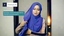 Simple loose chiffon hijab shawl tutorial (less pin) by Shana Ramli