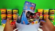 Le GÉANT de la PEUR Oeuf Surprise Play Doh à lIntérieur des Jouets Shopkins TMNT Ugglys Pet Shop