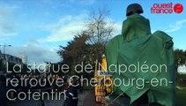 La statue de Napoléon retrouve Cherbourg-en-Cotentin