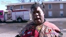 [VIDEO VIRAL] A viral television interview a mother gave moments after her apartment caught fire