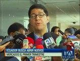 Ecuador buscará abrir nuevos mercados de exportación