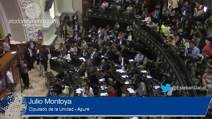 Julio Montoya barre el piso con los diputados del PSUV