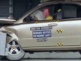 2003 Kia Sorento moderate overlap IIHS crash test