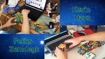Kevin Hays VS Feliks Zemdegs 2x2 - 7x7 CUBO 4K