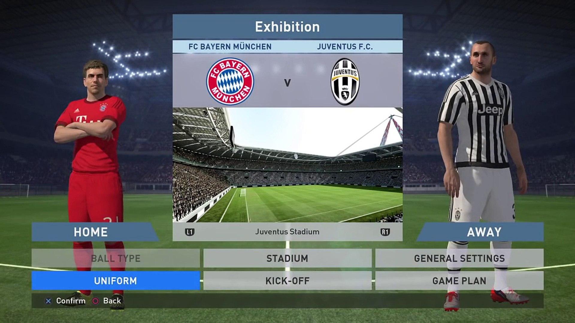 PES 2016 Gameplay FC BAYERN VS JUVENTUS Demo Pro Evolution 2016 Demo Gameplay | Xbox One/