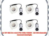 Pack of 4 LED COB Dimmable 10 Watt Recessed Fire Rated