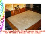 Premium Shaggy Flokati Greek Rugs Ivory colour from Rugs and Stuff - 140 x 200cm - 2000gsm